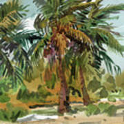 Palms in Key West Poster