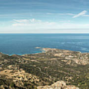 Panoramic View Across Calvi Bay And Revellata In Corsica Poster