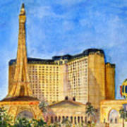 Paris Hotel And Casino Poster
