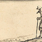 Peasant With Shovel On His Shoulder Poster