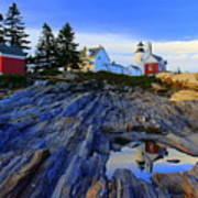 Pemaquid Point Light Reflections Poster