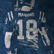 Peyton Manning Colts 2 Poster