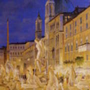 Piazza Navona, Rome Poster