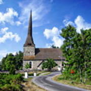 Picturesque Rural Church Poster