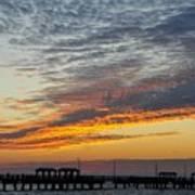 Pier Sunset Poster
