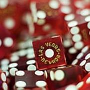 Pile Of Dice At A Casino, Las Vegas, Nevada Poster