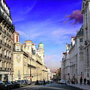 Pink Cloud In Paris Poster