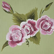 Pink Miniature Roses Poster
