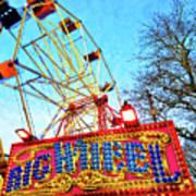 Portable Ferris Wheel Victorian Winter Fair Poster