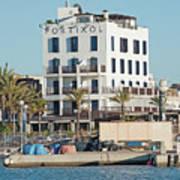 Portixol Marina Moored Boats Poster