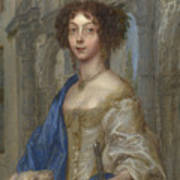 Portrait Of A Woman As Saint Agnes Poster