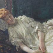 Portrait Of The Pianist Louisa Mercy D'argenteau Poster