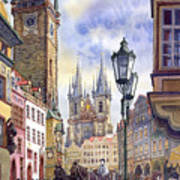 Prague Old Town Square 01 Poster by Yuriy  Shevchuk