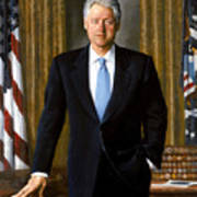 President Bill Clinton Poster by War Is Hell Store