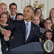 President Obama Honors Us Womens Soccer Team At White House #2 Poster