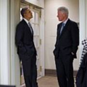 President Obama Talks With Former Poster