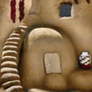 Pueblo Oven Poster
