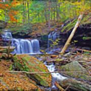 R B Ricketts Falls In Autumn Poster
