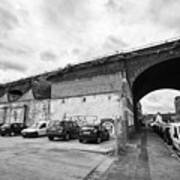 railway viaduct in oxford street former industrial area of digbeth now a conservation area Birmingha Poster