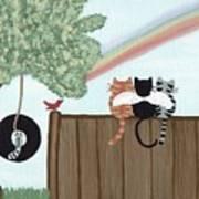 Rainbow Bridge Cats Poster