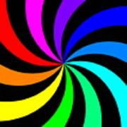 Rainbow Spectral Swirl Poster