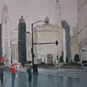 Rainy Day Chicago Poster