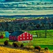 Red Barn - Pennsylvania Poster