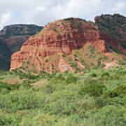 Red Rock At Caprock  Poster