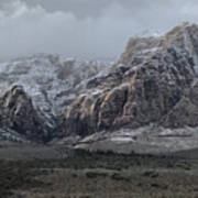 Red Rock Canyon Snow Storm Poster