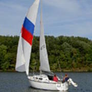 Red White And Blue Sails Poster