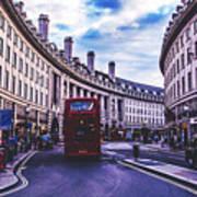 Regent Street In London Poster