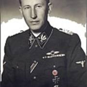 Reinhard Heydrich Circa 1940 Color Added 2016 Poster