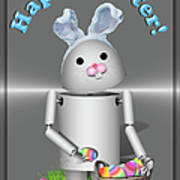 Robo-x9 The Easter Bunny Poster
