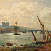 Rochester Cathedral And Castle Poster