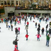 Rockefeller Center Skating Rink New York City Poster