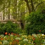 Rouen Abbey Garden Poster