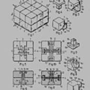 rubik's cube Patent 1983 Poster