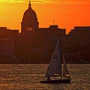 Sailing - Lake Monona - Madison - Wisconsin Poster