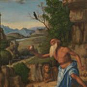 Saint Jerome In A Landscape Poster