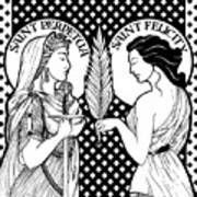 Saints Perpetua And Felicity Poster