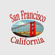 San Francisco California Design Poster