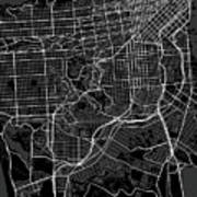 San Francisco California Usa Dark Map Poster