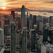San Francisco Financial District Skyline Poster