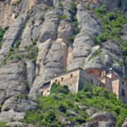 Santa Cova Monserratt Spain Poster