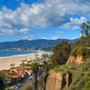 Santa Monica Ca Steps Palisades Park Bluffs  Poster