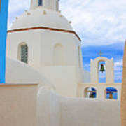 Santorini Church Dome Poster