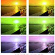 Santorini Sunsets Poster
