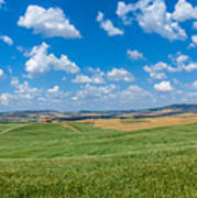 Scenic Tuscany Landscape With Rolling Hills In Val D'orcia, Ital Poster
