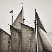 Schooner Pride Tall Ship Charleston Sc Poster by Dustin K Ryan