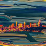 Seattle Swirl Poster